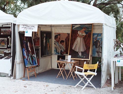 My tent at Beaux Arts Festival at the University of Miami January 2007 & MARIA TUMA: Artist